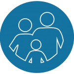 icon of a family representing family law